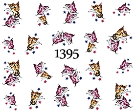Naklejki wodne na paznokcie - 1395