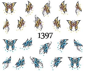 Naklejki wodne na paznokcie - 1397