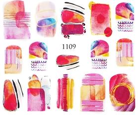 Naklejki wodne na paznokcie - 1109