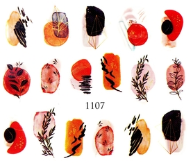 Naklejki wodne na paznokcie - 1107
