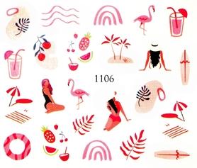 Naklejki wodne na paznokcie - 1106