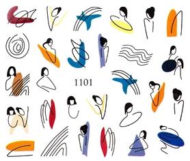Naklejki wodne na paznokcie - 1101