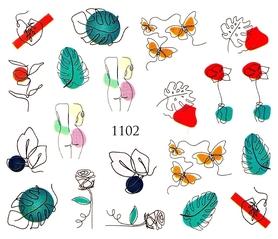 Naklejki wodne na paznokcie - 1102