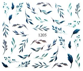 Naklejki wodne na paznokcie - 1205