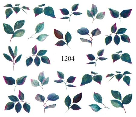 Naklejki wodne na paznokcie - 1204 (1)