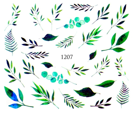 Naklejki wodne na paznokcie - 1207 (1)