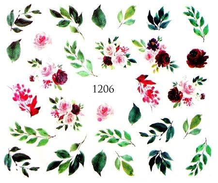 Naklejki wodne na paznokcie - 1206 (1)
