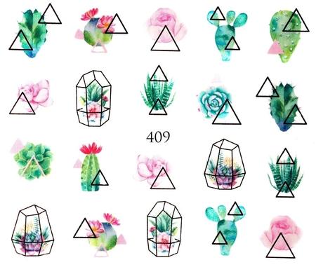 Naklejki wodne na paznokcie - 409 (1)