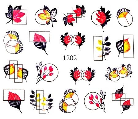 Naklejki wodne na paznokcie - 1202 (1)