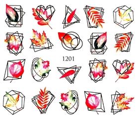 Naklejki wodne na paznokcie - 1201