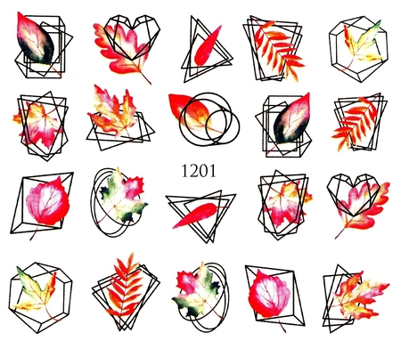Naklejki wodne na paznokcie - 1201 (1)