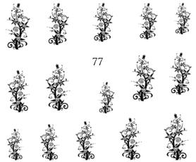 Naklejki wodne na paznokcie -77