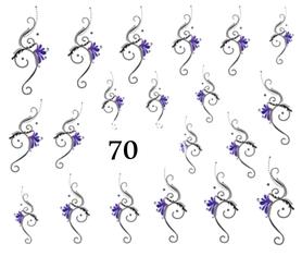 Naklejki wodne na paznokcie - 70