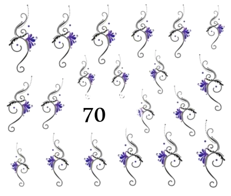 Naklejki wodne na paznokcie - 70 (1)