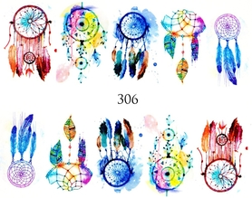Naklejki wodne na paznokcie - 306