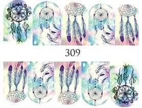 Naklejki wodne na paznokcie - 309