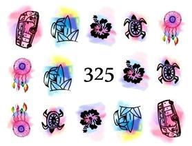 Naklejki wodne na paznokcie - 325