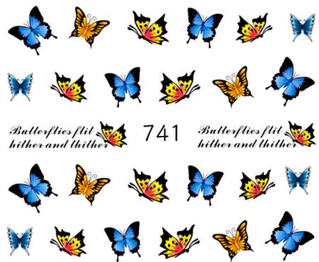 Naklejki wodne na paznokcie - 741 (1)