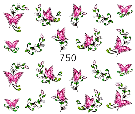 Naklejki wodne na paznokcie - 750 (1)