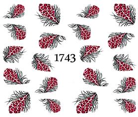 Naklejki wodne na paznokcie - 1743