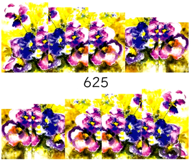 Naklejki wodne na paznokcie - 625