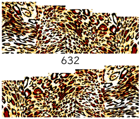 Naklejki wodne na paznokcie - 632