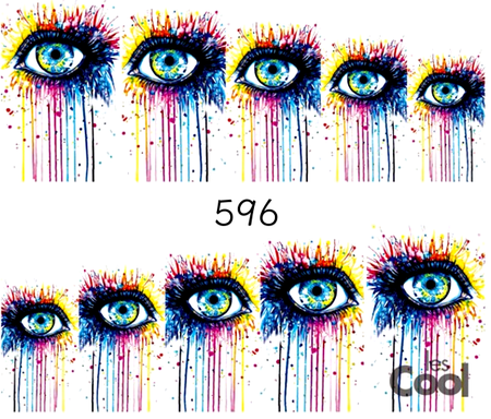 Naklejki wodne na paznokcie - 596 (1)