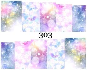 Naklejki wodne na paznokcie - 303
