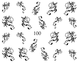 Naklejki wodne na paznokcie - 100