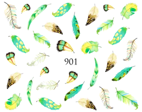 Naklejki wodne na paznokcie - 901