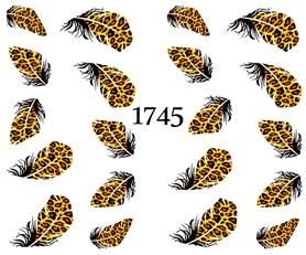 Naklejki wodne na paznokcie - 1745