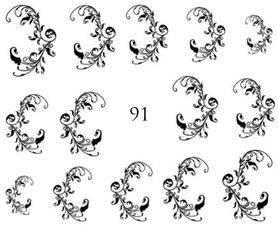 Naklejki wodne na paznokcie - 91