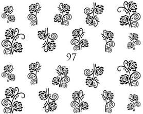 Naklejki wodne na paznokcie - 97