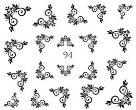 Naklejki wodne na paznokcie - 94