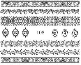 Naklejki wodne na paznokcie - 108