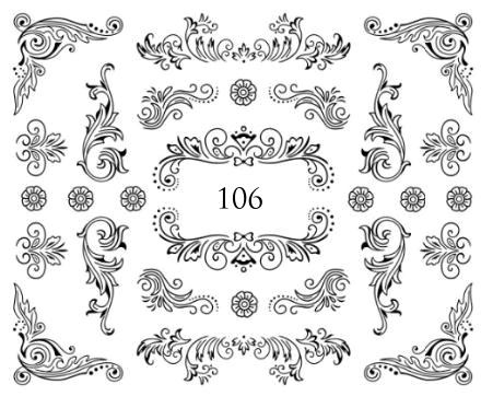 Naklejki wodne na paznokcie - 106 (1)