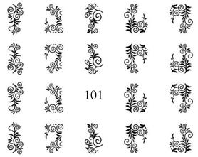 Naklejki wodne na paznokcie - 101