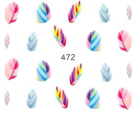 Naklejki wodne na paznokcie - 472