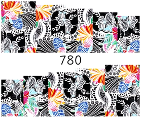 Naklejki wodne na paznokcie - 780