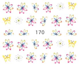 Naklejki wodne na paznokcie - 170