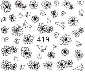 Naklejki wodne na paznokcie - 419