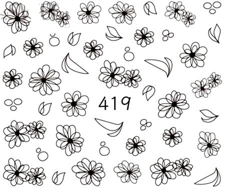 Naklejki wodne na paznokcie - 419 (1)