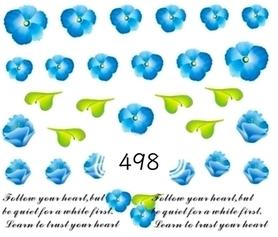 Naklejki wodne na paznokcie - 498