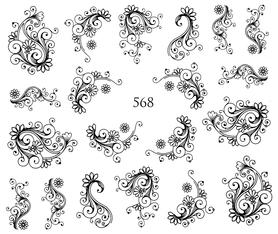 Naklejki wodne na paznokcie - 568
