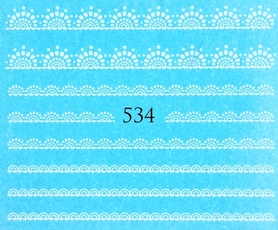 Naklejki wodne na paznokcie - 534