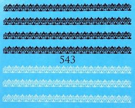 Naklejki wodne na paznokcie - 543