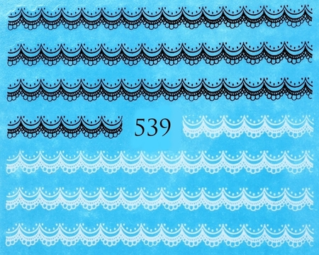 Naklejki wodne na paznokcie - 539 (1)