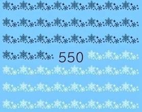 Naklejki wodne na paznokcie - 550