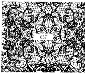 Naklejki wodne na paznokcie - 637