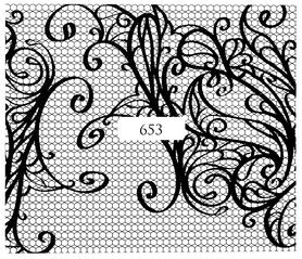 Naklejki wodne na paznokcie - 653